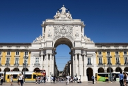Lisbon Commerce Square Arch