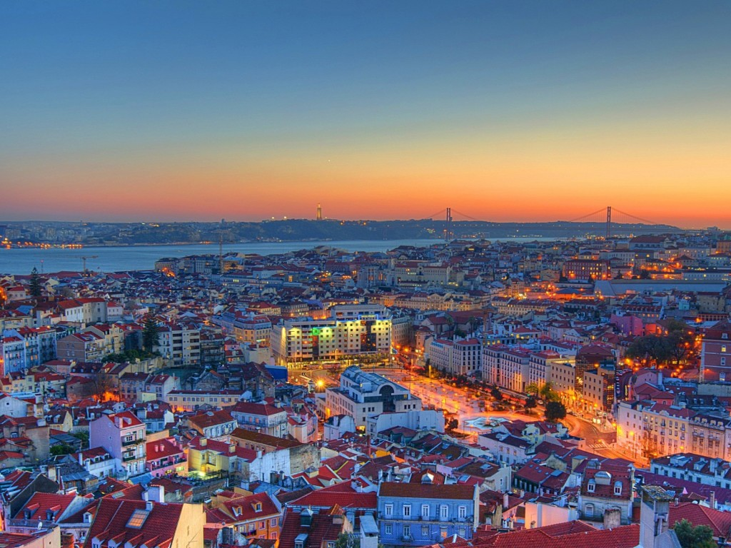 Lisbon_Downtown_Sunset
